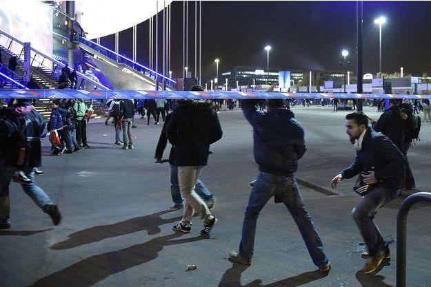 Le Stade de France a été vidé de ses spectateurs après le match.