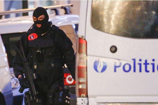 Mobilisation policière à Bruxelles.
