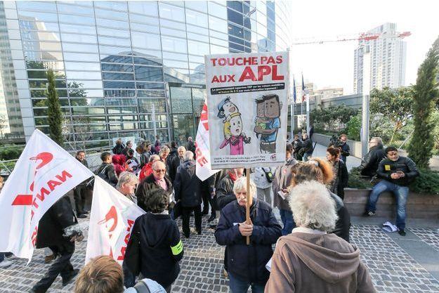 Manifestation contre la réduction des APL le 21 septembre 2017 à Paris