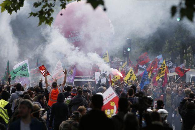 Manifestation contre la loi travail à Paris, le 26 mai 2016.