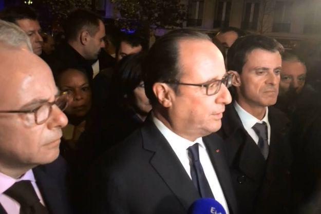 François Hollande s'est exprimé devant le Bataclan.
