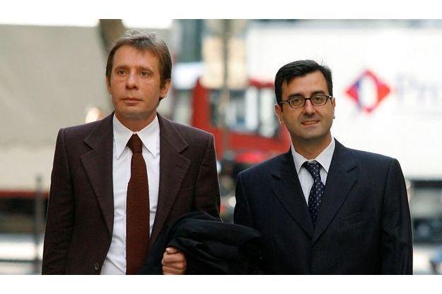 Imad Lahoud et son avocat Me Olivier Pardo (à dr.) en 2007.