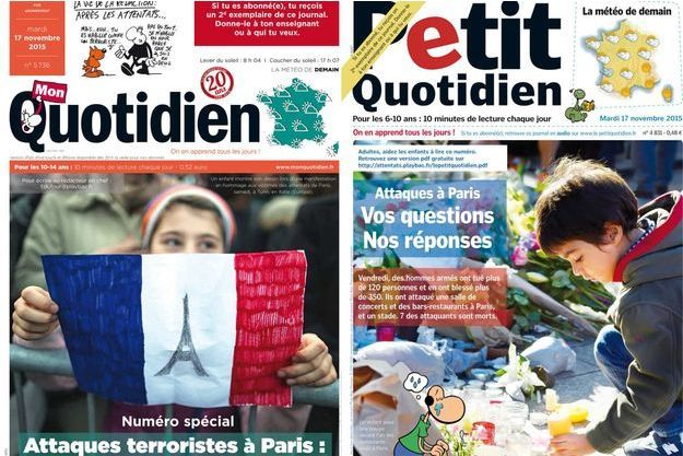 Les magazines d'actualité dédiés aux enfants sortent chaque jour des numéros spéciaux suite aux attentats du 13 janvier.