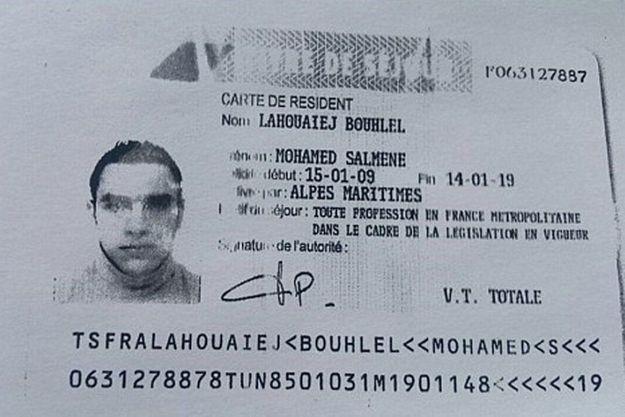 La carte de séjour de Mohamed Lahouaiej-Bouhlel