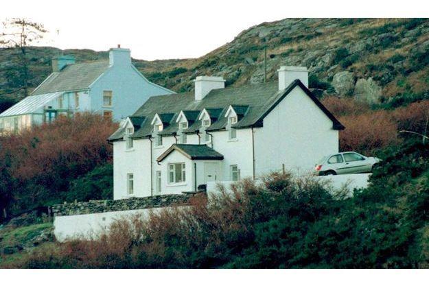 Voici la maison des Toscan du Plantier, située dans un petit village situé dans le Sud-Ouest de l'Irlande.