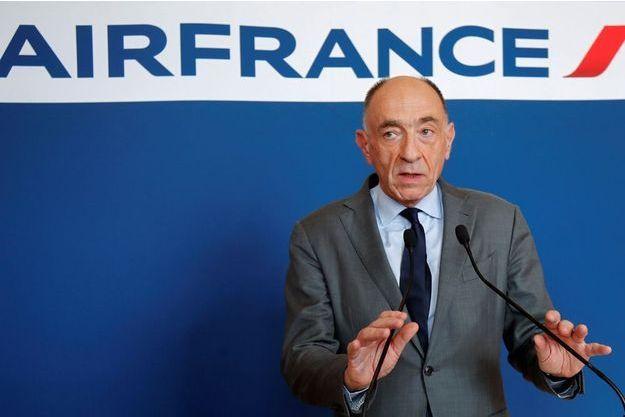Jean-Marc Janaillac, lors de la conférence de presse annonçant sa démission.