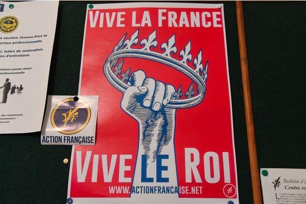 Une affiche de l'Action française photographiée en octobre 2017.