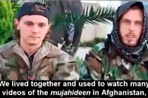 Le 12 juillet 2013, Jean-Daniel (à g.) et Nicolas publient une vidéo sur YouTube : « Nous avons vécu ensemble et regardé de nombreuses vidéos des moudjahidin en Afghanistan. »