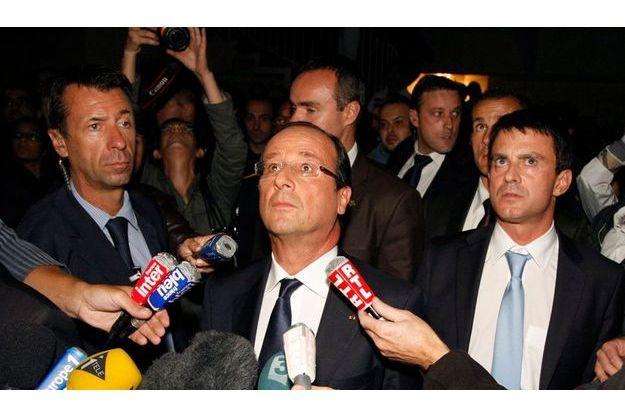 François Hollande est allé à la rencontre des habitants d'Echirolles.
