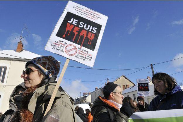 Une manifestation contre la Ferme des 1000 veaux avait eu lieu en janvier dernier, à La Courtine.