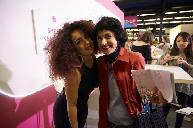 Shera Kerienski avec notre journaliste Catherine Schwaab, samedi au salon Get Beauty