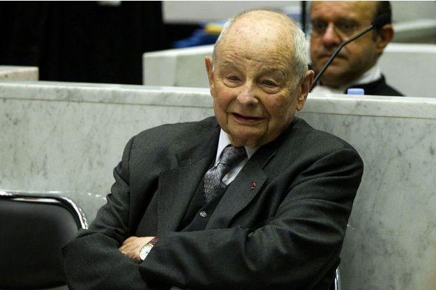 Jacques Servier au tribunal de Nanterre en 2012.