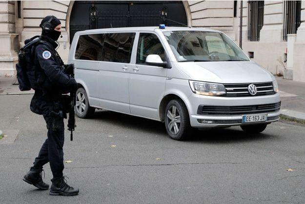 Van transportant Mehdi Nemmouche le 15 novembre 2017 à Paris