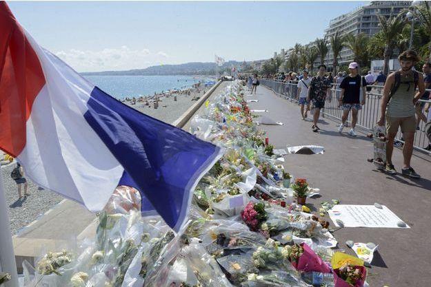 La Promenade des Anglais, où ont péri 84 personnes le 14 juillet.