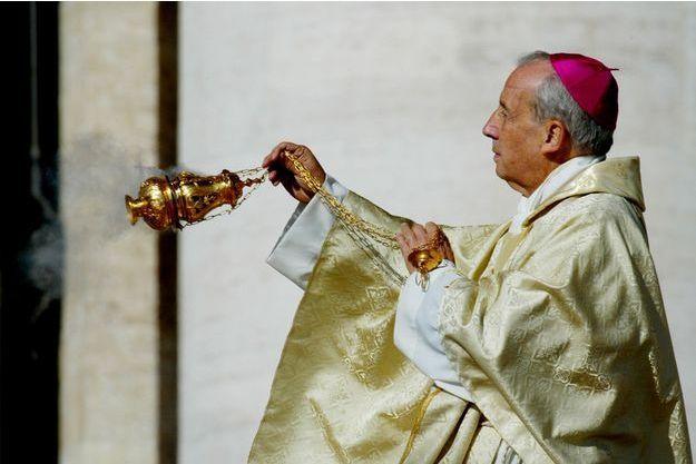 Javier Echevarria, chef de l'Opus Dei, photographié en 2002.