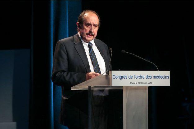 Patrick Bouet, président du conseil national de l'Ordre des médecins, en 2015.