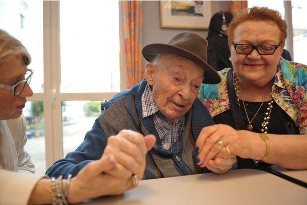 Philippe dans sa maison de retraite en juin dernier.