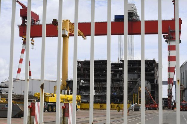 Un des chantiers navals de STX France, à Saint-Nazaire.