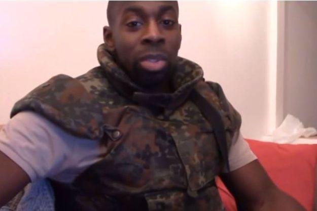 Capture d'écran de la vidéo posthume d'Amedy Coulibaly.