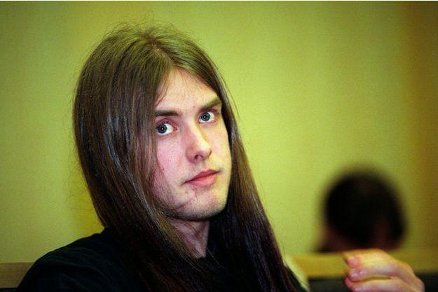 Varg Vikernes lors de son procès en Norvège en 1994.
