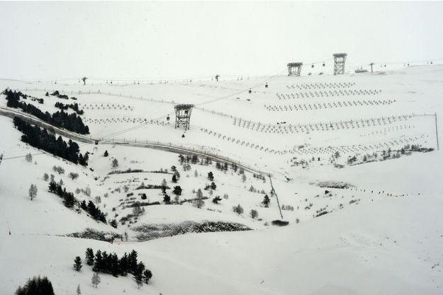 Une piste des Deux-Alpes.