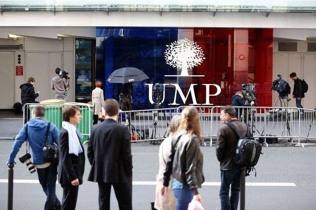 Le siège de l'UMP, lors d'une perquisition dans le cadre de l'affaire Bygmalion, en mai dernier.
