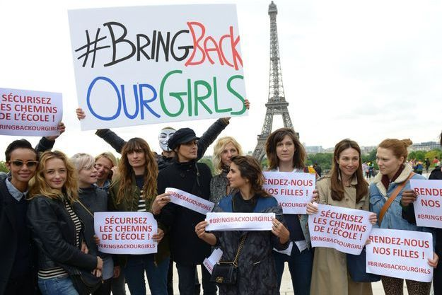 De nombreuses femmes ont participé au premier rassemblement #BringBackOurGirls à Paris.