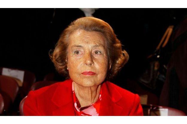 Liliane Bettencourt, le 26 janvier dernier.
