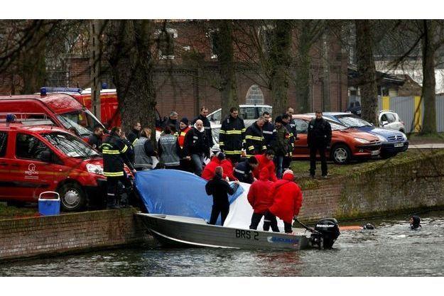 Le corps de Thomas Ducroo, repêché mercredi 23 février dans la Deûle, à Lille
