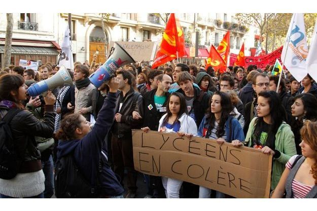 Les manifestations étudiantes ont pris de l'ampleur hier.