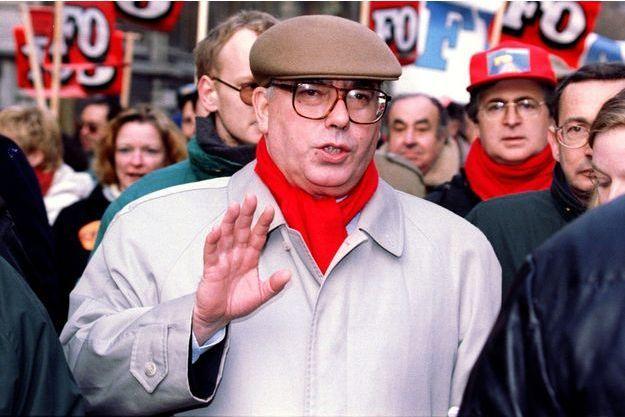 Marc Blondel lors des grèves de décembre 1995.