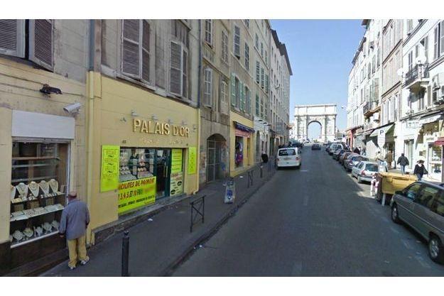 La rue d'Aix, à Marseille.