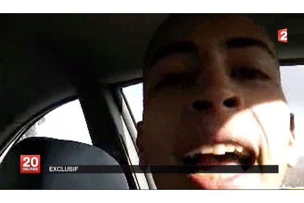 Mohamed Merah, sur une capture d'écran d'une vidéo diffusée par France 2.