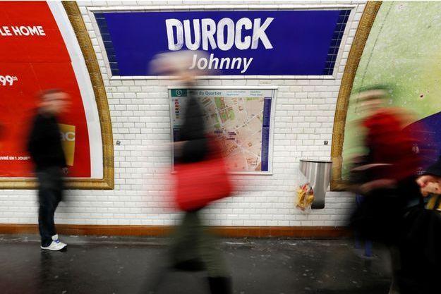 La station de métro Duroc, rebaptisée en hommage à Johnny Hallyday.