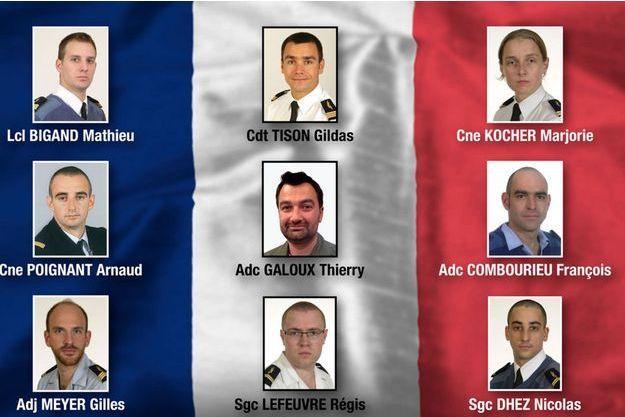 Les neuf victimes françaises du crash d'Albacete.