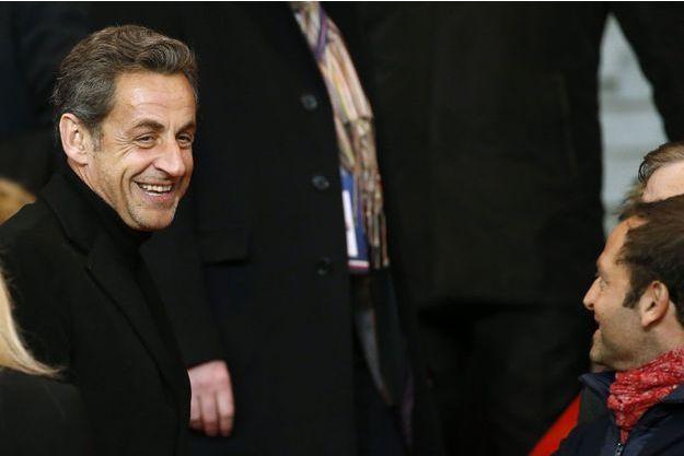 Nicolas Sarkozy, dimanche dernier au parc des Princes.