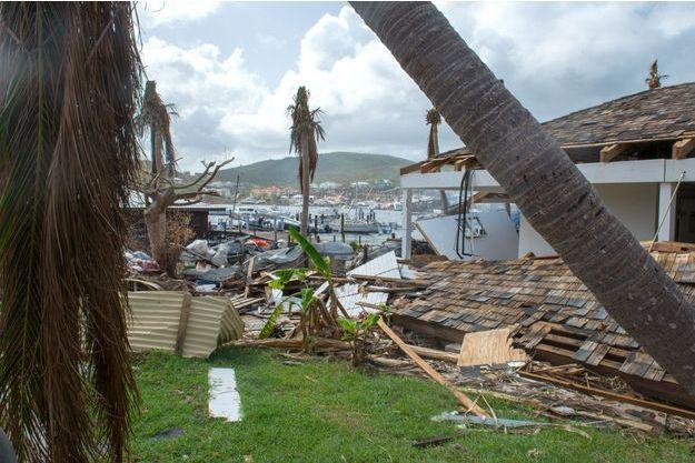 Les dégâts sur l'île de Saint-Martin après le passage de l'ouragan Irma.