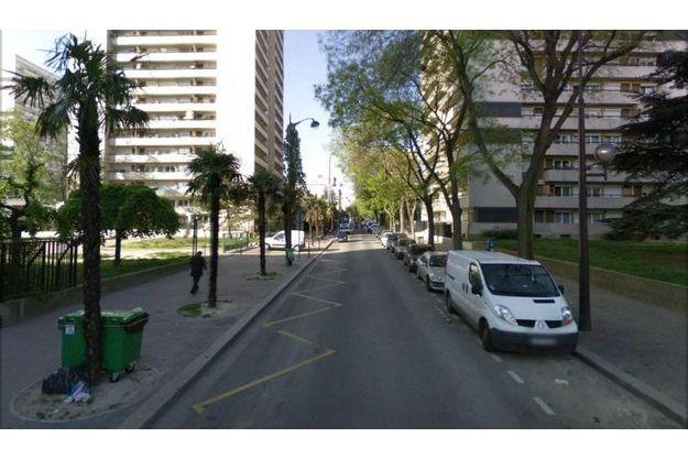 La longue rue Curial, où s'est déroulé l'accident.
