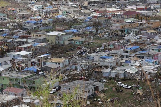 Les maisons ravagées de Saint Martin.