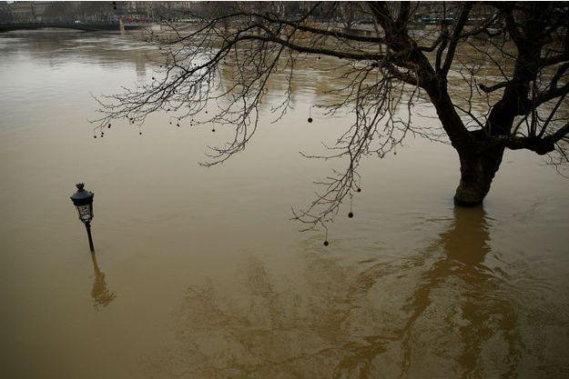 La crue de la Seine, à Paris, le 27 janvier.