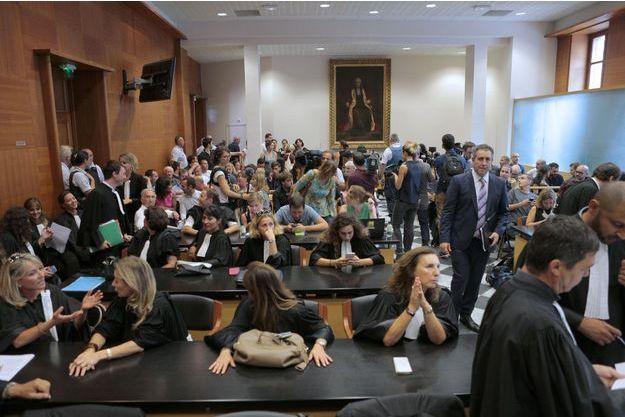 Le 15 septembre au tribunal correctionnel de Bastia lors du procès de la rixe de Sisco.
