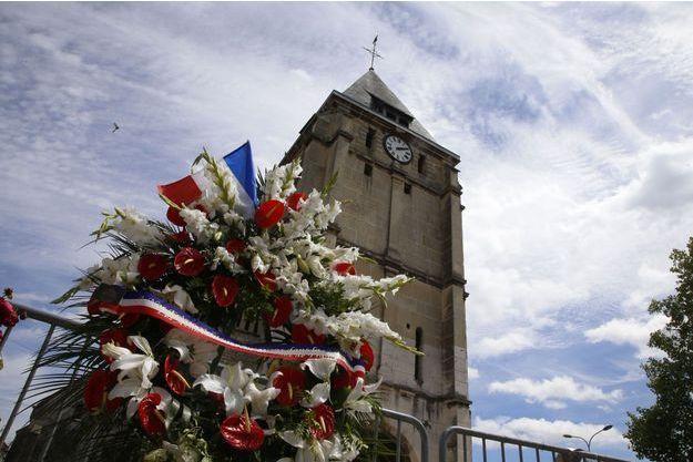 L'attaque a eu lieu mardi devant cette église de Saint-Etienne-du-Rouvray.