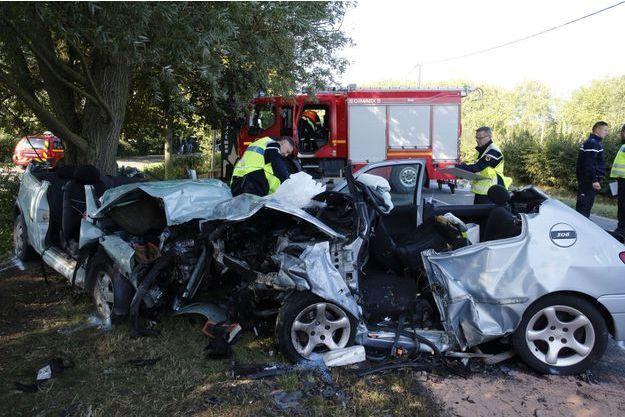 Un accident de voitures à Esquelbecq, en octobre dernier.