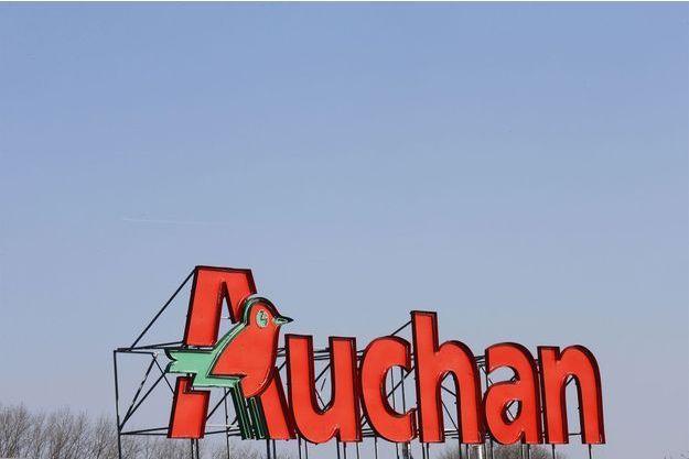 La logo d'un magasin Auchan