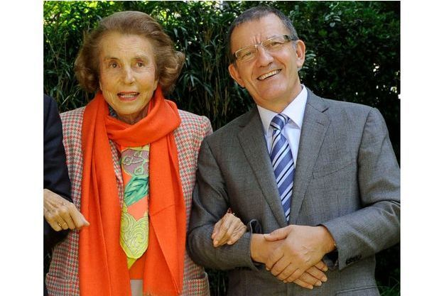 Liliane Bettencourt et Alain Thurin