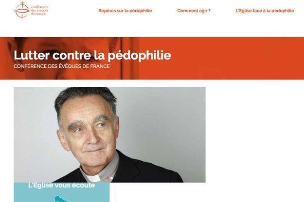 Capture d'écran du site Luttercontrelapedophilie.catholique.fr.