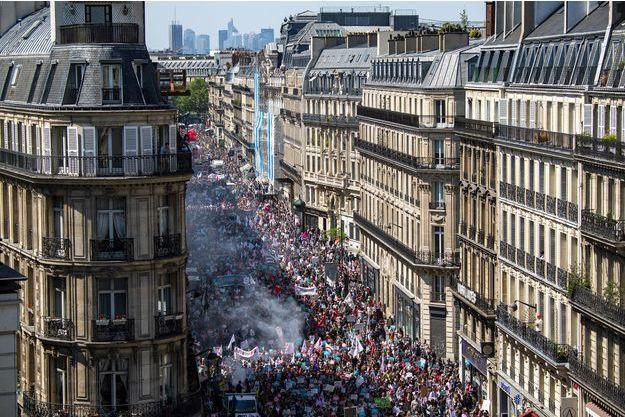 """La """"Fête à Macron"""" à Paris, le 5 mai 2018."""