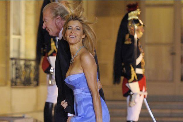 Brice Hortefeux et son épouse Valérie, le 4 novembre 2010, à l'Elysée.