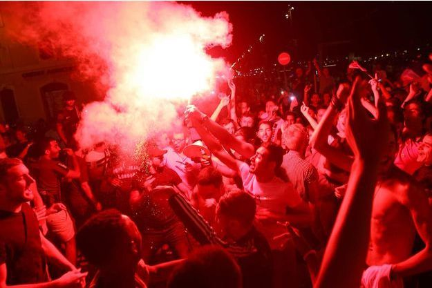 Profusion de joie jeudi soir au Vélodrome de Marseille.