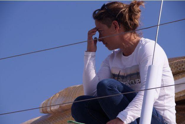 """Alexia Barrier, à bord du """"30 Corsaires"""""""
